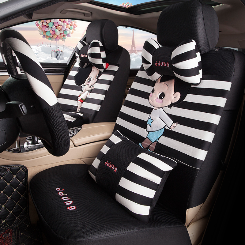 [The goods stop production and no stock]Honda Federico CRV Ling Square xrv front van Goreswich all-package car seat covers women four seasons cute cushion