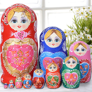 * * doll shop professional imported formaldehyde flavor matryoshka 10 layer 1051 hand-painted basswood