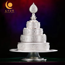 Tibetan S999 sterling silver Manza Nepal handicraft eight auspicious carvings A full set of Manza for Mancha Luo repair plate