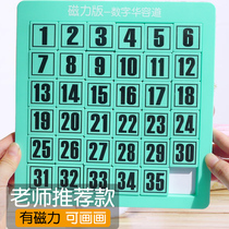 Digital Huarong Dao puzzle toy strongest brain childrens math Hualong fan disk burning bar push disk sliding puzzle