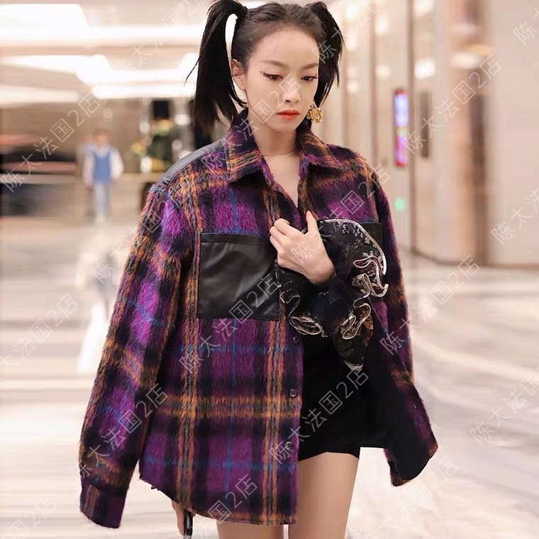 (Chen Tai France) maje Songxi with the same coat fried street lazy wind hit the small crowd hair coat
