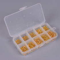 Packing Golden Tube Pay Isoni 500 Boxes with Reversed Spines, Rings and Holes Fishing Hook No. 3-12