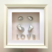 3-D Stereo Footprint Handprint 100-day Souvenir Handprint Tremble Fetal Hair Umbilical Cord Preservation Box for Infants