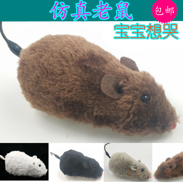 Simulated mice and children joking animals realistic big rats scary whole maggot model teasing cats pet toys