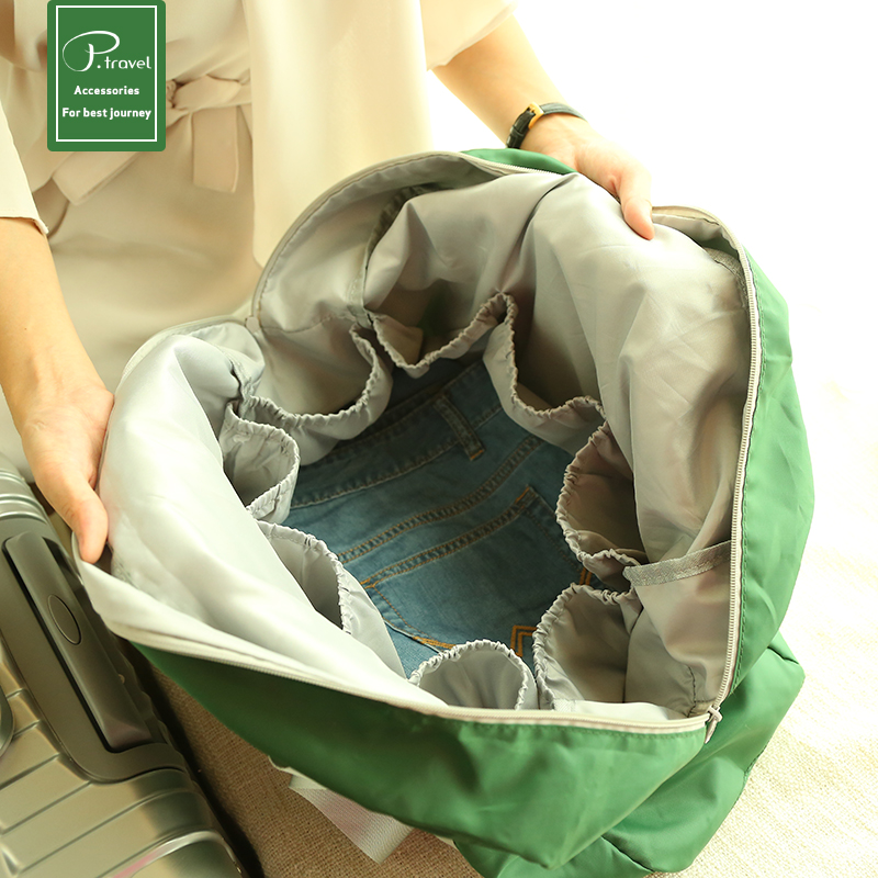 Short-distance folding bag portable travel bag waterproof bag can be set rod multi-function large capacity boarding bag