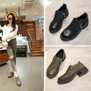 Fanmai deep export shoes in autumn and winter in 2017 New England head with low and deep thick and comfortable shoes export