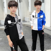 Balabala childrens clothing boys spring suit new spring childrens foreign boy sports handsome in the tide of children