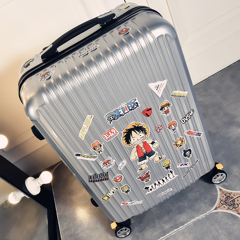 Student Luggage Small Fresh Pull-rod Luggage Universal Wheel Code Luggage Wheel Retro Personality 24 inches Men and Women