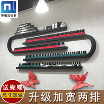 European-style iron nail polish glue shelf wall hanging U-shaped racks nail shop display rack cosmetics shelf