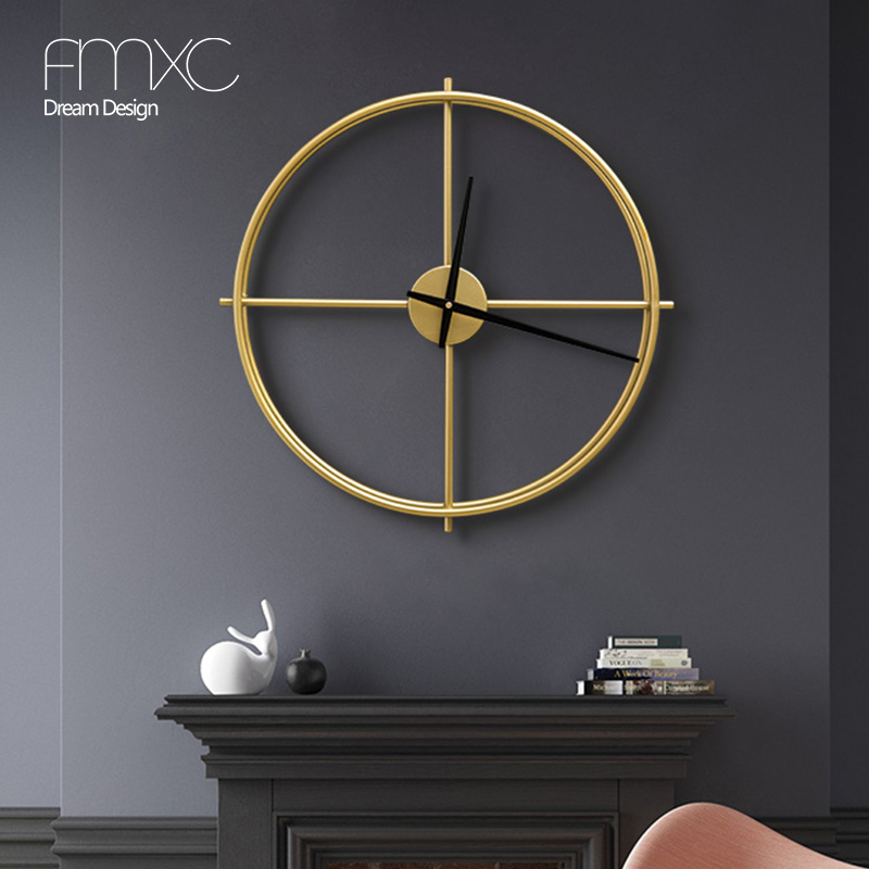 Nordic Clock Creative Household Fashion Clock Individual Silent Hanging Express Simple Iron Art Living Room Light Luxury Clock