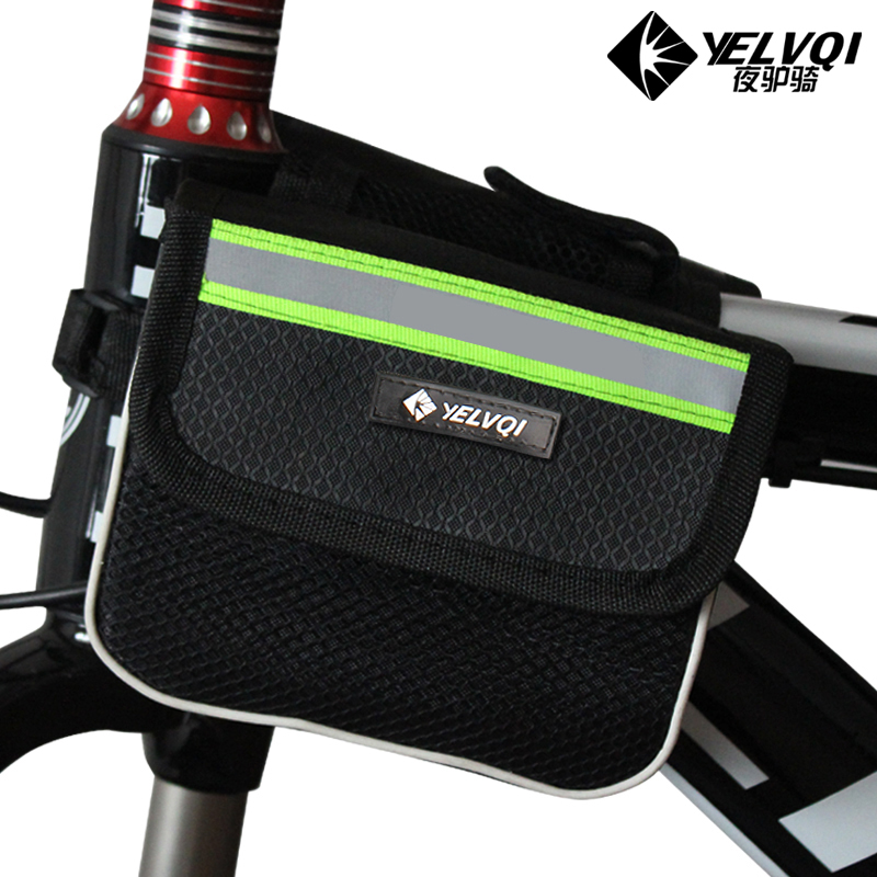 Bicycle bag hard shell upper tube bag saddle bag mountain bike front bag with mobile phone bag riding equipment bicycle accessories