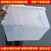 Thickened transparent plastic storage box extra large clothes bedding toy storage box collection box storage box three-piece set