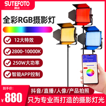 TP50 RGB fill light LED photography light Beauty light Live room light Full color video light Professional film and television light Shooting light Shooting photo light Indoor portrait studio studio