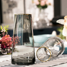 Lightweight and Luxurious Scandinavian T-type Simple Glass Vase, Living Room Flower Ware, Home Decoration and Flower Arrangement