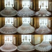The bride wedding dress style retro veil veil 2017 new long high-grade bulk yarn widening bride