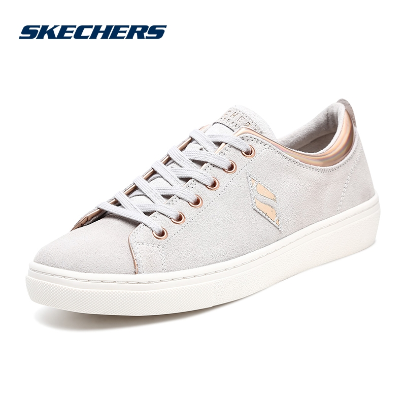 Skechers SKECHERS women's shoes new suede comfortable low-top shoes fashion strap casual shoes 73818