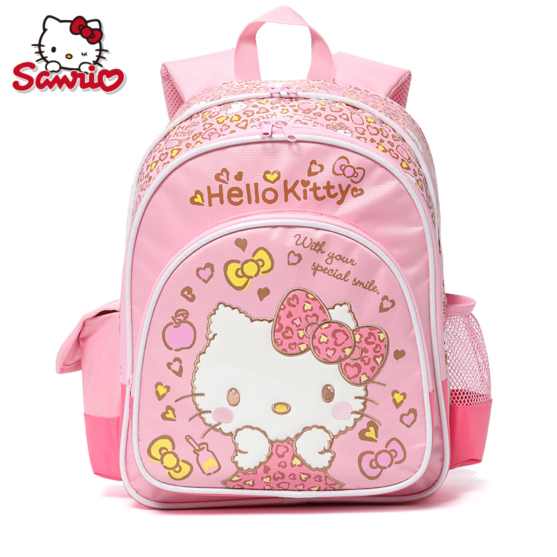New SANRIO Hello Kitty Kitty Cat Leopard Primary School Students'1-3-5 Grade Backpack