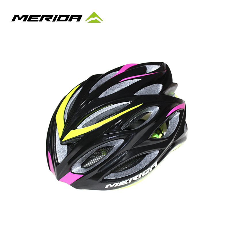 [The goods stop production and no stock]Merida riding helmet ultra-light mountain high-end integrated molding with insect net tactical equipment genuine