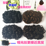 The female hair wig wig cheongsam really a bride's hair curls head buckle type straight bag bag