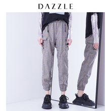 Dazzle Disu 2020 spring dress new deep Khaki work style long casual pants for women 2c1q4013n