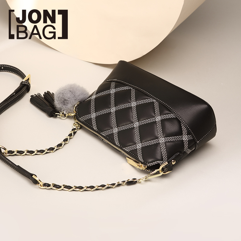 Lingge chain small bag 2018 new autumn tide Korean version of the wild slung shoulder texture small incense wind wandering handbag