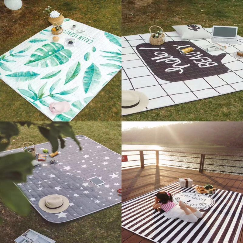[The goods stop production and no stock]Picnic mat outdoor portable children spring and autumn outing waterproof picnic wild beach sand lawn moisture thickening wild mat