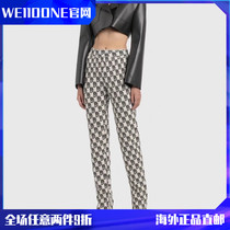 (Official website Spot) WE11DONE20FW classic old Flower Wool Wool full print LOGO sports leisure trousers
