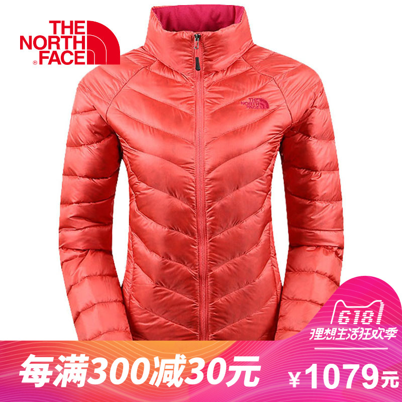 [The goods stop production and no stock]The NORTH FACE/CAJ4 Outdoor Sports 800 Peng Warm and Wear Resistant Collar Down Garment for Women in the North