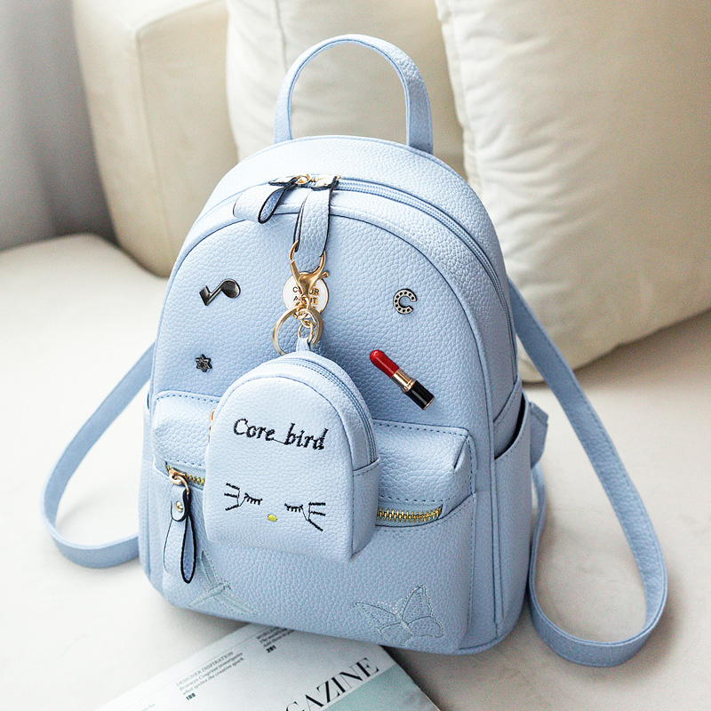 Backpack female Korean version 2018 new wave fashion wild mini fresh backpack student bag casual bag
