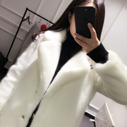 2017 new winter fur coat female Korean imitation mink long section Plush cocoon thin mink special offer