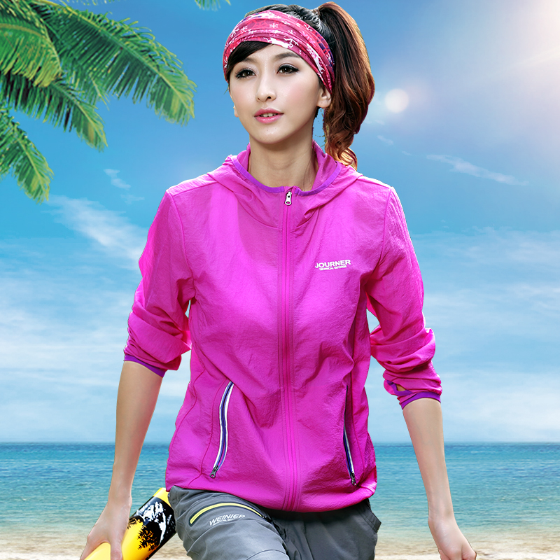 Outdoor sports spring and summer skin clothing ultra-light thin couple windbreaker men and women anti-UV quick-drying breathable sunscreen clothes