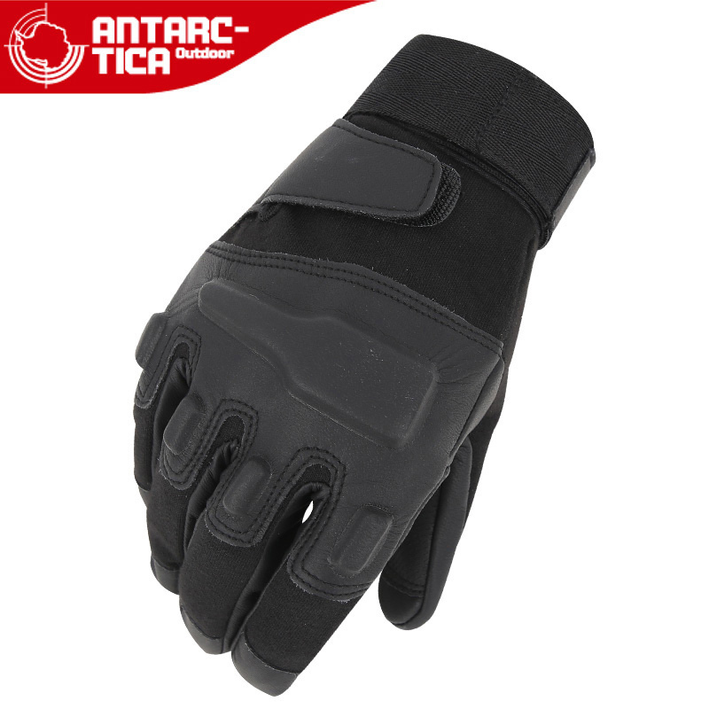 Seventh continent Black Hawk leather refers to special forces tactical gloves men's outdoor skid riding gloves upgraded version