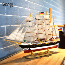 Simulated Sailing Model Decoration of TV Cabinet of Prussian 50cm Sailing Craft Ship