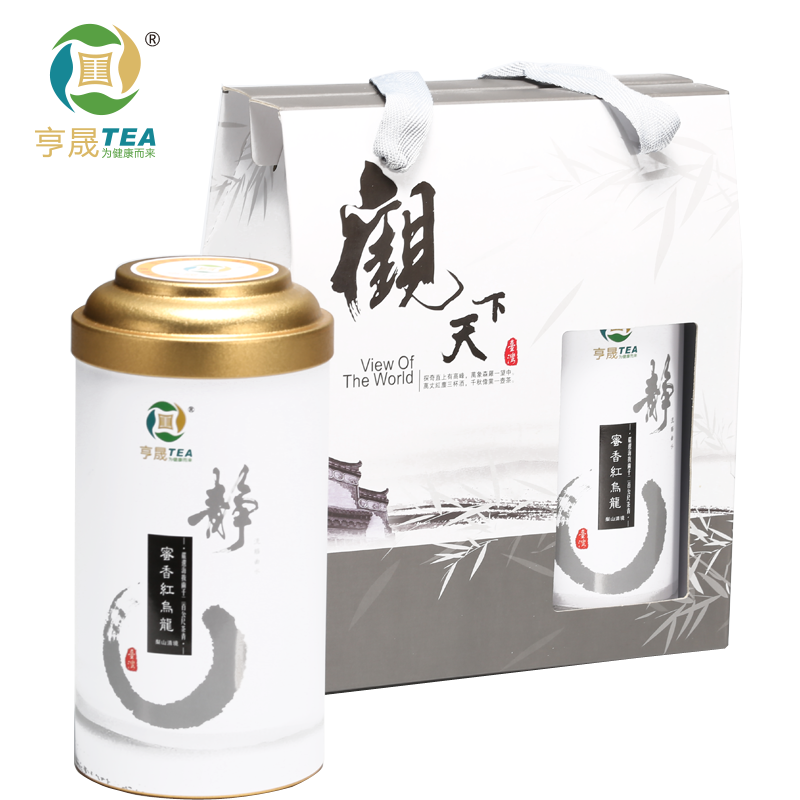 [The goods stop production and no stock]亨晟 Taiwanese tea gift boxed tea honey fragrant red oolong tea gift set mountain tea 300g / set
