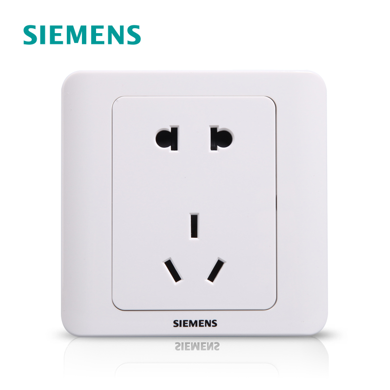 Siemens Switch Socket Panel Vision Yabai 5-5-hole 10A Power Wall 86 Two-or Three-eye Socket