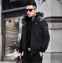 Winter Pie overcomes the 2020 new mens mink inner bile fur one-in-one removable Henning short fur coat
