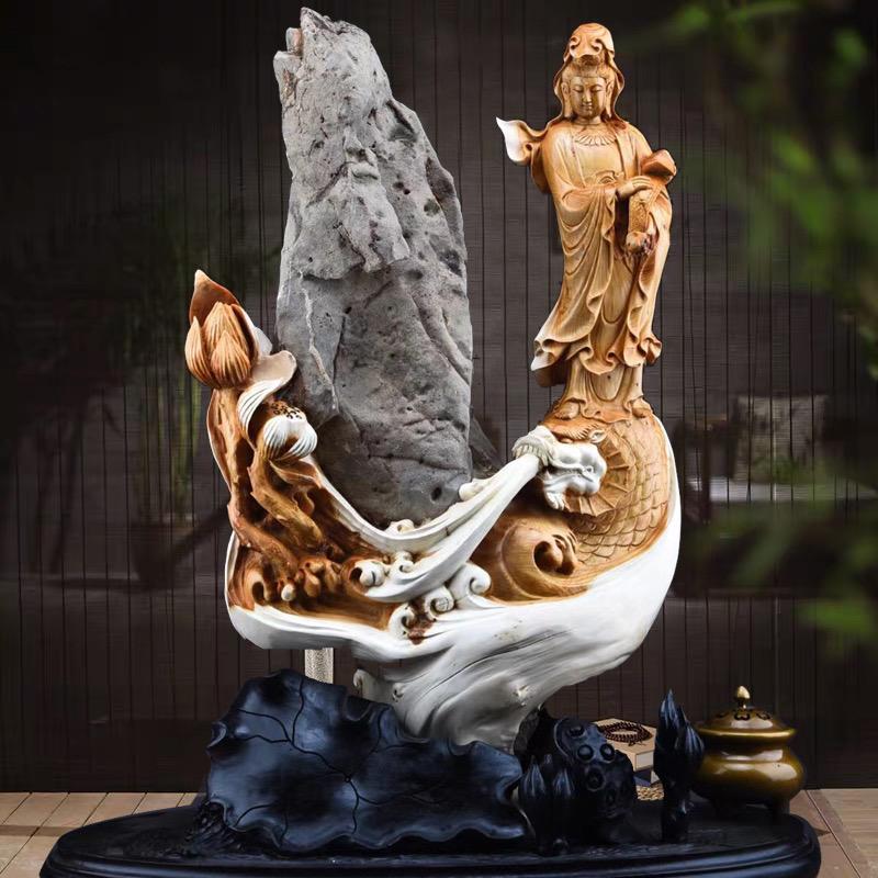Деревянные три природные скалы кипарисовые части дарят подарки тайхуан горных корней резьба Chenyeng Yuanyeng Миллер городской дом чтобы нанять богатство с типом
