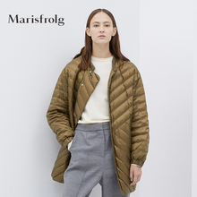 Marisfrolg Masefield Down Dress Women's New Winter Style Loose White Velvet Coat