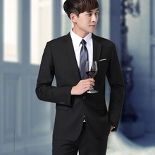 Men's suits three piece business suits small occupation suit slim Korean groom wedding dress.