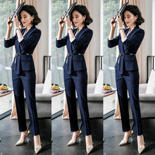 Suit Suit Women's Professional Clothes 2019 New Interview Suit Women's Temperament Long Sleeve Suit Women's Workwear