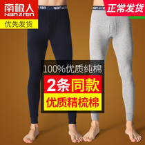 Antarctic autumn trousers mens cotton pants thin section of autumn and winter thick tight base cotton pants pants warm underwear