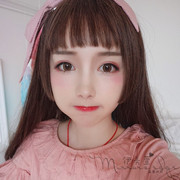 True female hair wig Harajuku diffuse Ji Lolita COS and air bangs long straight hair fake hair Ruanmei daily