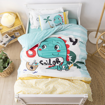 Children go to kindergarten quilt three-piece set of cotton containing core into the 牀 six-piece set of cotton baby nap