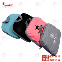 Foldable outdoor waterproof shoulder bag customized printable logo outdoor travel supplies staff welfare gift