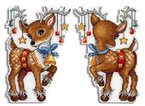 Cross stitch heavy drawing source file refrigerator stickers-double-sided embroidery-deer