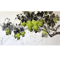 Korean flower Chinese painting 1 3 meters Jin Weicheng first-class artist grapes living room decoration painting zz119