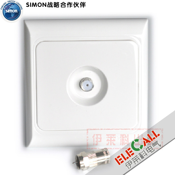 Simon Switch Euro 61 Series TV Socket J60475 wd-911698
