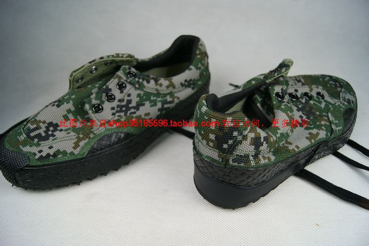 Men's and women's rubber shoes low waist camouflage release shoes rubber shoes