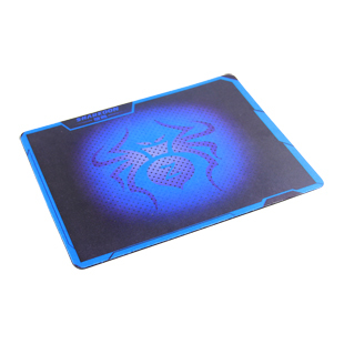 Rotary blue spider web cafe office computer professional padded pad lol cf game mouse pad