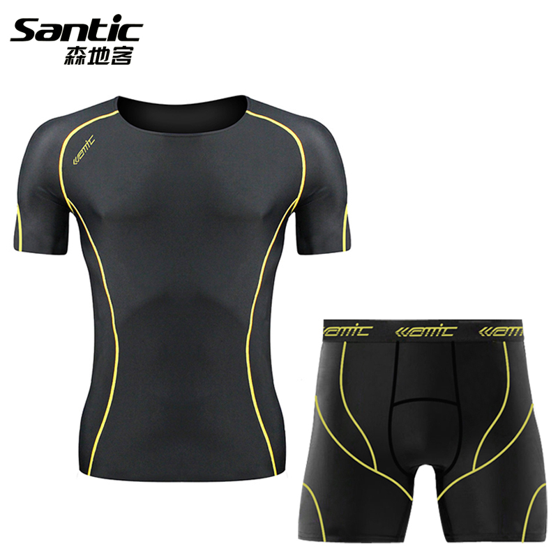 Santicson Dikker Summer Men's Short Sleeve Short Pants Riding Suit for Running, Fitness and Sportswear Comfortable and Portable